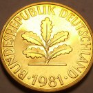 Gem Cameo Proof Germany 1981-F 10 Pfennig~Minted In Stuttgart~91,000 Minted~Fr/S