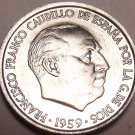 Gem Unc Spain 1959 10 Centimos~Only Year Ever Minted~Francisco Franco~Free Ship