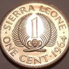 Rare Proof Sierra Leone Proof 1964 1 Cent~Only 10,000 Minted~1st Year Ever~Fr/Sh