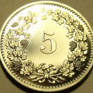Rare Cameo Proof Switzerland 1975 5 Rappen~Only 10,000 Minted~Proofs R Best~Fr/S