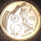 Rare Bi-Metal Proof Great Britain 2002 2 Pounds~2,500 Minted~Wales Variety~Fr/Sh