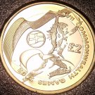 Extremely Rare Bi-Metal Proof Great Britain 2002 2 Pounds~2,500 Minted~Fr/Ship