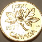 Proof Canada 1977 Maple Leaf Cent~225,307 Minted~We Have Canadian~Free Shipping