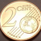 Gem Unc Austria 2002 2 Euro Cents~Edelweiss Flower~Minted In Vienna~Free Ship