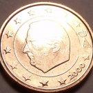 Gem Unc Belguim 2000 2 Euro Cents~Minted In Brussels~Albert II~Free Shipping