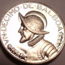 Rare Proof Panama 1967 1/10th Balboa~Only 19,983 Minted~Awesome~Free Shipping