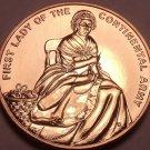 Large Gem Unc Martha Washington 1st Lady Medallion~Continental Army~Free Ship