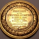 Huge Gem Unc Abraham Lincoln 2 Terms And Assassination Medallion~Awesome~Fr/Ship