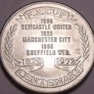 Large 1972 F.A Cup Centenary Medallion~Worlds Oldest Football Championship~Fr/Sh