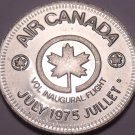 Huge Gem Unc Air Canada 1975 Vol Inaugural Flight Medallion~Super~Free Shipping
