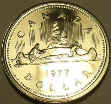 Proof Canada 1977 Canoe Dollar~225,307 Minted~We Have Canadian~Free Shipping