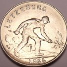 Gem Unc Luxembourg 1964 1 Franc~Last Year Ever Minted~Man Working In Field~Fr/Sh
