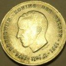 Massive Silver Belgium 1976 250 Francs~Jubilee Of King Baudouin~Brussels~Free Sh