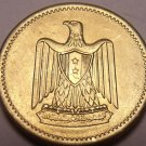 Unc Egypt 1960 Millieme~Eagle With Shield On Breast~See Our Selection~Free Ship