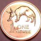 Rare Proof Zambia 1978 Ngwee~Aardvark~Only 24,000 Ever Made~Free Shipping