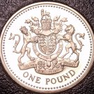 Cameo Proof Great Britain 1998 Pound~An Ornament And a Safeguard~Free Shipping