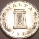 Rare Cameo Proof Malta 1978 5 Cents~Temple Of Hagar Qim~Only 3,244 Minted~Fr/Shi