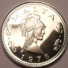 Rare Cameo Proof Malta 1978 2 Cents~Queen Of The Amazons~Only 3,244 Minted~Fr/Sh