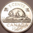 Proof Canada 1965 Beaver Nickel~Proof Coins Are The Mints Best Work~Free Ship