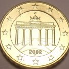 Gem Unc Germany 2002-F 10 Euro Cents~Brandenburg Gate~Awesome~Free Shipping