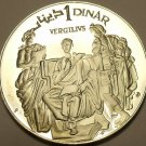 Rare Silver Proof Tunisia 1969-F.M.N.I. Dinar~Virgil~14,279 Minted~Free Shipping