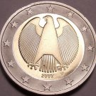 Cameo Proof Germany 2002-D 1 Euro~Minted In Munich~Cameo~Bi-Metal~Free Shipping~