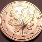 Cameo Proof Germany 2003-J 1 Euro Cent~Hamburg Minted~Free Shipping~
