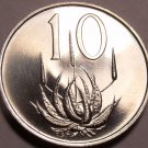 Rare South Africa 1967 Proof 10 Cents~25,000 Minted~Aloe Plant~Free Shipping