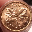 Gem Unc Roll (50 Coins) Canada 1969 Cents~Free Shipping