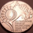 Unc Silver Germany 1972-F 10 Mark~Munich Olympics~Faster Higher Stronger~Free Sh