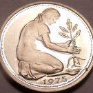 Gem Cameo Proof Germany 1975-G 50 Pfennig~Women Planting An Oak Seedling~Free Sh