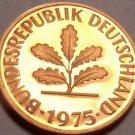Cameo Proof Germany 1975-G Pfennig~Minted In Hamburg~43,000 Minted~Free Shi