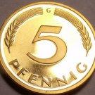 Gem Cameo Proof Germany 1975-G 5 Pfennig~Minted In Karlsruhe~43k Minted~Free Shi