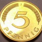 Gem Cameo Proof Germany 1978-J 5 Pfennig~Minted In Hamburg~54k Minted~Free Shi