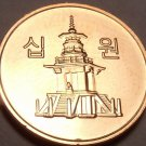 Gem Brilliant Unc South Korea 2013 10 Won~Pagoda at Pul Guk Temple~Free Shipping