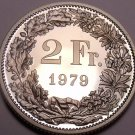 Rare Cameo Proof Switzerland 1979 2 Francs~Only 10,000 Minted~Proofs R Best~F/Sh