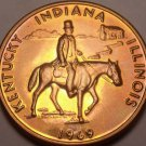 Massive Gem Unc Abraham Lincoln Heritage Trail Bronze Medallion~Free Shipping