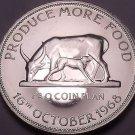 Massive Rare Proof Uganda 1968 FAO Issie 5 Shillings~Incredible~5,000 Minted~F/S