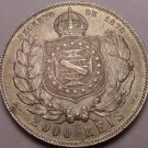 Extremely Rare Unc Brazil 1889 2000 Reis~Fantastic~Pedro II~Free Shipping