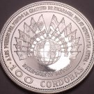 Extremely Rare Silver Proof Nicaragua 1975 100 Cordobas~Earthquake~Free Shipping