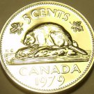Proof Canada 1979 5 Cents~Beaver Nickel~Excellent~Free Shipping