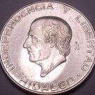 Huge Au/Unc Silver Mexico 1955-Mo 5 Pesos~1st Year Ever Minted~Free Shipping