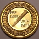 Massive Bronze Proof America United By Rail Golden Spike Medallion~Free Ship