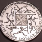 Rare Silver Proof New Zealand 1974 Dollar~Commonwealth Games~ChristChurch~Fr/Sh