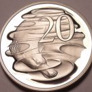 Cameo Proof Australia 1982 20 Cents~Duckbill Platypus~100,000 Minted~Free Ship