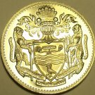Rare Proof Guyana 1967 10 Cents~5,100 Minted~1st Year Ever Produced~Free Ship