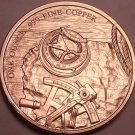 Gem Unc .999 Solid Copper 1 Ounce Prospector Medallion~Excellent~Free Shipping