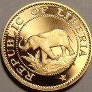 Rare Proof Liberia 1972 Cent~Elephant Coin~Only 4,866 Minted~Free Shipping