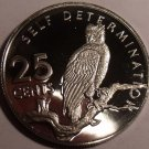 Rare Cameo Proof Guyana 1976 25 Cents~Mintage 3,547~Harpy Eagle~Free Shipping