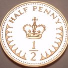 Gem Cameo Proof Great Britain 1984 Half Penny~Only 107,000 Minted~Free Shipping